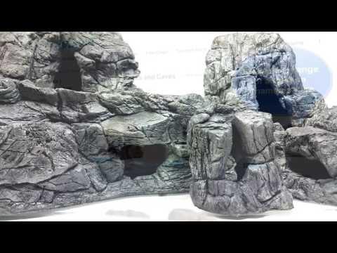 Aquarium Decoration Grey Large Fish Cave – by Aqua Maniac