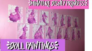 Making Miniature Disney Princess Silhouette Doll Paintings