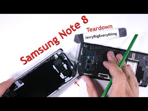 Samsung Galaxy Note 8 in un nuovo Teardown di JerryRigEverything