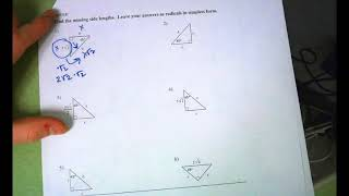 45 45 90 Triangles Notes And Practice