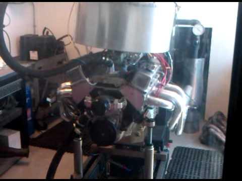 400 Pump Gas SBC with Airwolf 220e heads 640 HP - смотреть