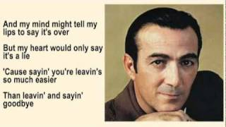 Faron Young - Leaving and Saying Goodbye with Lyrics