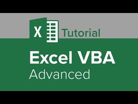 Excel VBA Advanced Tutorial - YouTube