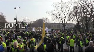 LIVE: Yellow Vests' hold fresh protest in Paris despite ban on key locations