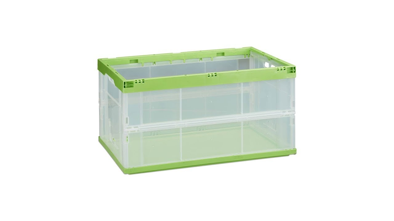 Faltbare Transportbox transparent