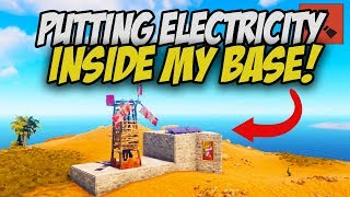 PUTTING ELECTRICITY INSIDE MY BASE! - Rust