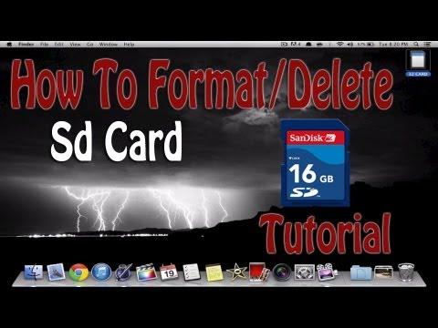 How To Erase SD Card On Mac Computer | Tutorial Format/Delete | Macbook Pro Air Mini iMac Pro