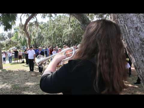 My student Rylee performing at the Tarpon Springs Veterns day program 2016