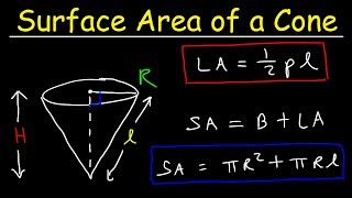 Surface Area of a Cone with Lateral Area - geometry