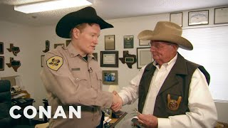 Conan Becomes A Texas Deputy, Part 1 - Video Youtube
