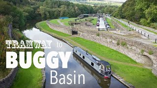 Narrowboat to Bugsworth Basin and discovering the Peak Forest Tramway.