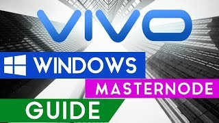 VIVO Masternodes - Getting Started -  Windows Masternode Setup Guide