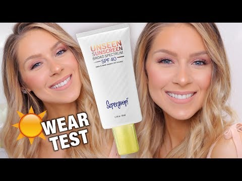Supergoop Unseen Sunscreen SPF40 Review & Wear Test (Under Makeup!)
