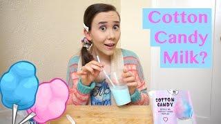 COTTON CANDY FLAVORED MILK?! | JessIsAMess