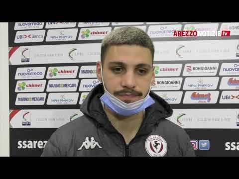 Arezzo-Mantova 1-1, intervista a Di Paolantonio