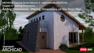Placing Dimensions on the Floor Plan - ARCHICAD Training Series 3 – 26/52
