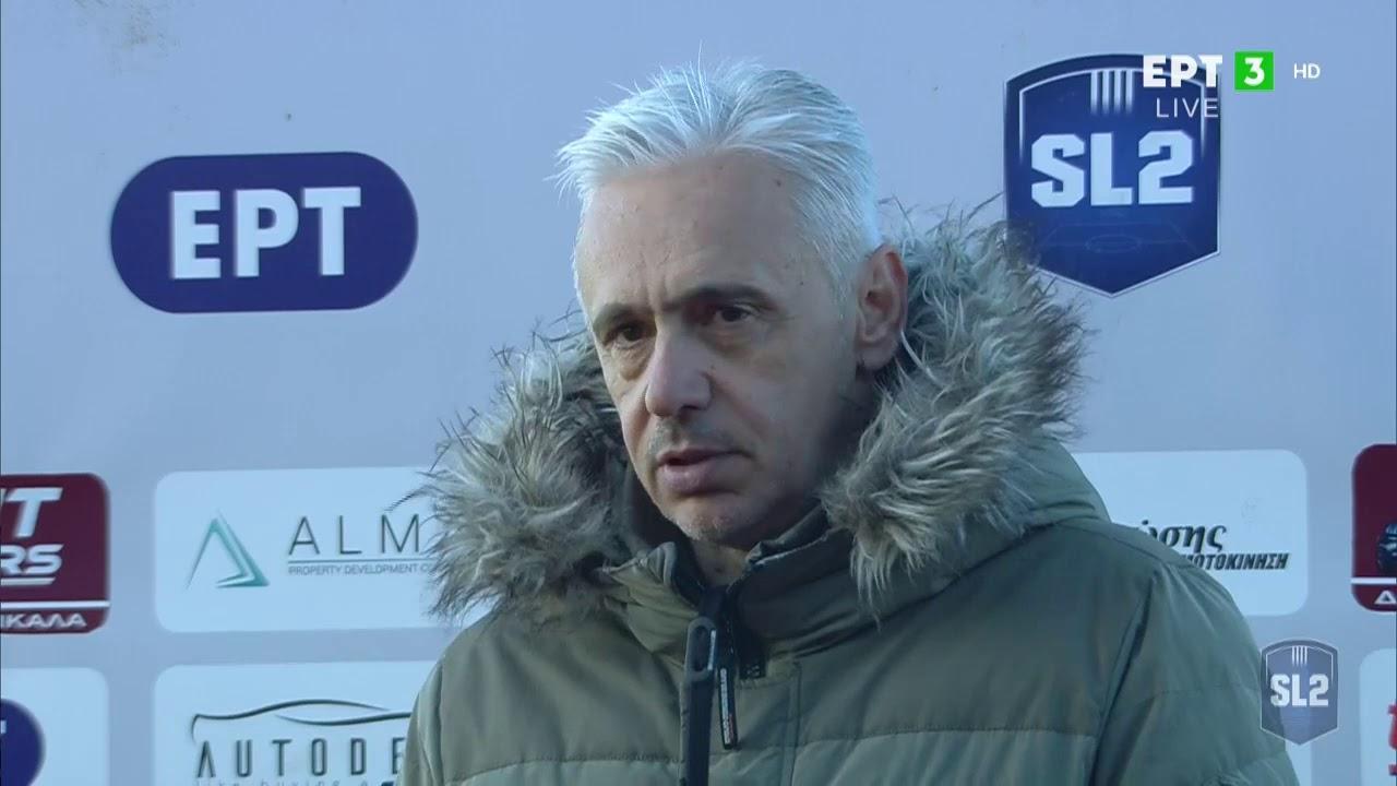 Απ. Χαραλαμπίδης: Αδικούμαστε από το σκορ, από λάθη μας τα γκολ που δεχθήκαμε | 30/01/2021 | ΕΡΤ