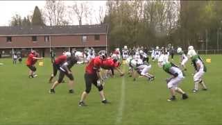 preview picture of video 'Highlights - Celtic Guardians vs. Neuss Frogs - Scrimmage 21.04.2013'