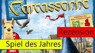 Carcassonne / Spiel des Jahres 2001 / Anleitung & Rezension / SpieLama