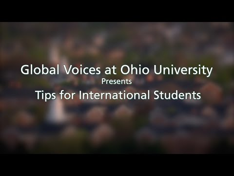 Tips for International Students at Ohio University