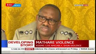 Police Commander-Japheth Koome reveals the murders were done through use of blunt objects