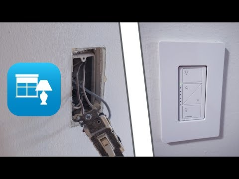 How to install a Lutron Caseta Wireless dimmer switch in single pole or 3 way circuit