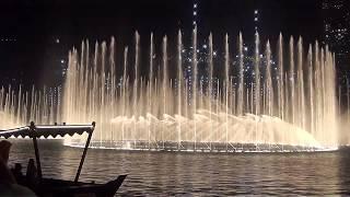 Лазерное шоу и поющие фонтаны у Бурж Халифа в Дубае, Эмираты 2019