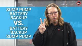 Battery Back Up Sump Pump Vs Sump Pump Battery Back Up   The Ninja Explains