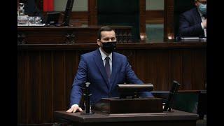 Mateusz Morawiecki w Sejmie o stanie przygotowań do walki z epidemią.