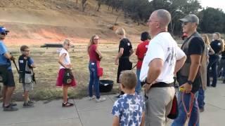 Youth skeet shooting class