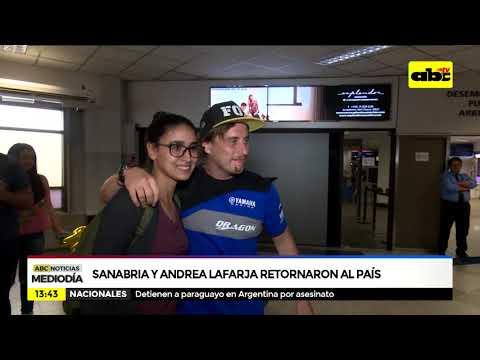 Sanabria y Lafarja retornaron al país