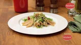 Vodafone 4G with Fatafeat - Mixed Green Salad with Pears Gorgonzola & Roasted Walnuts