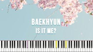 백현 (BAEKHYUN) - 나인가요 (홍천기 OST) (쉬운 키,가사 포함) by 스윗피아노