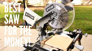 This is the best compound miter saw FOR THE MONEY! Tons of power and some cool features