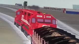 We made it to the yard safely and rare train going backwards
