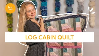 How To Quilt | Log Cabin Quilt #craftwithme