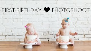 First Birthday Photoshoot & Cake Smash // Twins