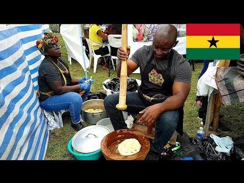 Street food from Ghana - Ghana food tour - Ghana party in the park 2019