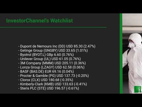 InvestorChannel's Disinfection Watchlist Update for Monday, May, 17, 2021, 16:00 EST
