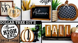 5 FALL DOLLAR TREE DIYS | MODERN HOME DECOR IDEAS 2020 | $1 HIGH END DIYS