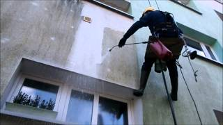 Czyszczenie elewacji metoda alpinistyczna
