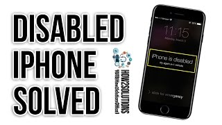 iPhone disabled- How to unlock/Reset/Restore iPhone 5/6/6s/7 Plus iPad ? Connect to iTunes Blog