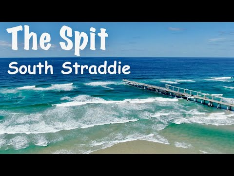 Drone shot of surf at The Spit
