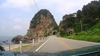 夏の日本海縦貫ドライブ@新潟県村上市「笹川流れ」