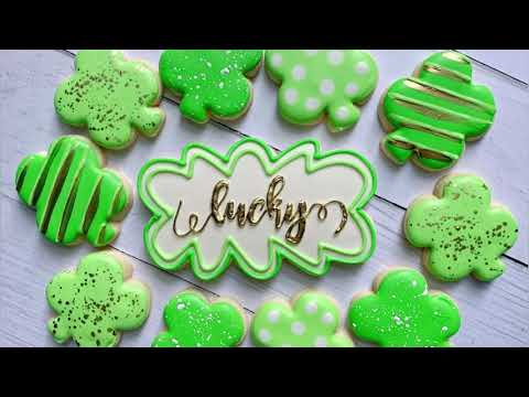 Satisfying Cookie Decorating | LUCKY CLOVERS | The Graceful Baker