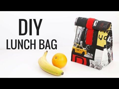DIY LUNCH BAG | Cómo hacer una bolsa porta alimentos