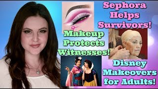 What's Up in Makeup NEWS! Sephora Helps Survivors! Makeup Protects Witnesses! And Disney Makeovers! - Video Youtube