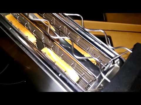 Klarstein Cambridge Doppel Langschlitz 4 Scheiben Toaster