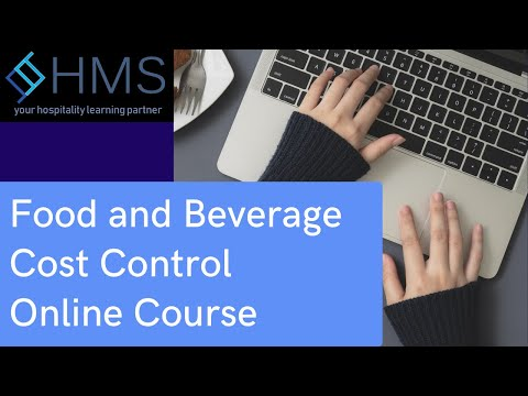 Hotel Management - Food and Beverage Cost Control Online Course