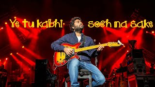 Soch na sake - Arijit singh Live in First direct Arena Leeds 2018